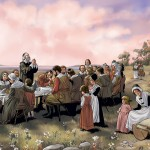 Pilgrims and Indians Thanksgiving