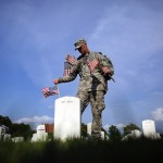 """""""Flags In"""" Ceremony Held At Arlington National Ahead Of Memorial Day"""