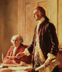 Jefferson and Adams Declaration of Independence