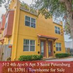 St Petersburg Townhome for Sale | 512 4th Ave S Apt 3 Saint Petersburg FL 33701